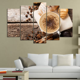 Coffee, Drink, Morning, Breakfast, Hot, Restaurant, Cup, Tasty, Healthy, Bakery, Sweet, Cappuccino, Espresso, Caffeine, Baking, Energy, Latte, Aroma, Mug, Brown » Brown, Black, Gray, Beige