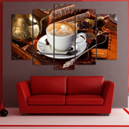 Coffee, Drink, Morning, Breakfast, Delicious, Restaurant, Cup, Sugar, Cappuccino, Espresso, Caffeine, Aromatic, Aroma, Mug, Brown, Milk » Red, Brown, Black, Gray