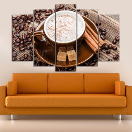 Coffee, Drink, Morning, Breakfast, Hot, Restaurant, Cup, Sweet, Cappuccino, Espresso, Caffeine, Aromatic, Aroma, Cream » Brown, Black, Gray, Beige
