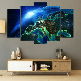 Ocean, Sky, Planet » Blue, Turquoise, Black