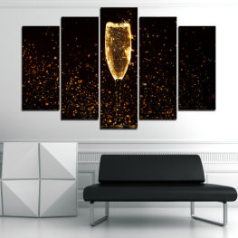 Reflection, Light, Night, Drink, Black, Bright, Glass, Party, Bubbles, Sparkle, Golden, Stars, Gold, Champagne, Bubble, Liquid » Red, Orange, Brown, Black