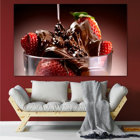 Εκτύπωση σε καμβά και διακοσμητικά πάνελ τοίχου - 1 τεμάχιο №0840 » Κόκκινος, Καστανός, Μαύρος, Γκρί » Φρέσκο, Φράουλες, Τροφή, Ποτήρι, Νόστιμο, Καλοφαγάς, Καρπός, Επιδόρπιο, Γευστικός, Μούρο, Φράουλα, Γλυκός, Γεύση, Κρέμα, Σοκολάτα, Ζαχαροπλαστική, Τρώω Form #1