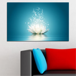 Flower, Art, Lights, Light, Glow, Sparkle, Shiny, Floral, Magic, Elegance » Blue, Turquoise, Dark grey