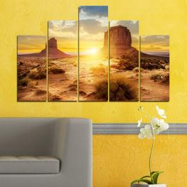 Декоративни панели и картини от канава - от 5 части №0154 Изгрев 5-та Форма