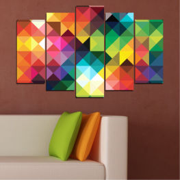Abstraction, Shine, Colorful » Red, Green, Yellow, Orange, Dark grey