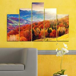 Декоративни панели и картини от канава - от 5 части №0165 Природа 5-та Форма