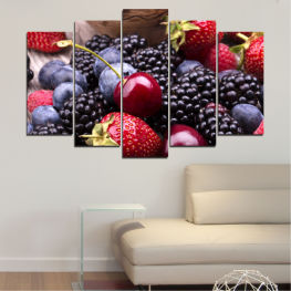 Culinary, Fruits, Cherries, Strawberries, Blueberries » Red, Purple, Blue, Brown, Black, Gray, Dark grey