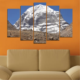 Nature, Landmark, Mountain, Kailash, Buddha » Blue, Gray, White, Dark grey