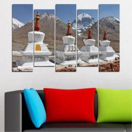 Декоративни панели и картини от канава - от 5 части №0185 Забележителност 3-та Форма