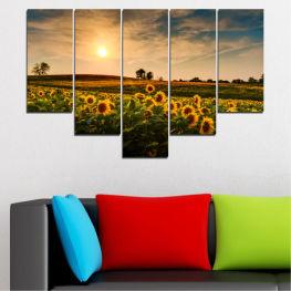 Декоративни панели и картини от канава - от 5 части №0212 Природа 6-та Форма