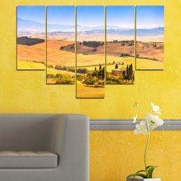 Декоративни панели и картини от канава - от 5 части №0217 Природа 6-та Форма