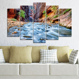 Nature, Water, River, Rocks » Brown, Black, Gray, Dark grey