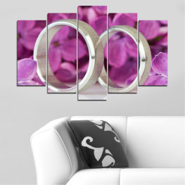Lilac, Wedding, Symbol, Ring » Pink, Purple, Gray, Dark grey