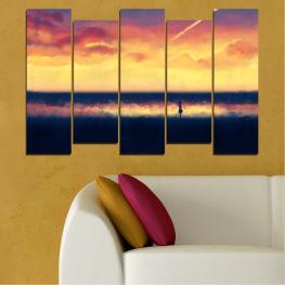 Декоративни панели и картини от канава - от 5 части №0242 Море 3-та Форма