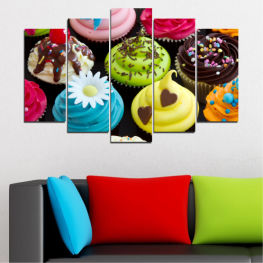 Culinary, Colorful, Pastry » Blue, Green, Brown, Black, Beige