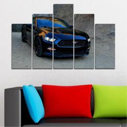 Декоративни панели и картини от канава - от 5 части №0258 Превозно средство 5-та Форма