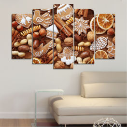 Culinary, Pastry, Christmas » Orange, Brown, Gray, Beige