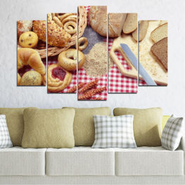 Culinary, Wheatear, Bakery products » Orange, Brown, Gray, Beige