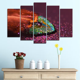 Abstraction, Drops, Colorful, Leaf » Red, Orange, Brown, Black, Dark grey