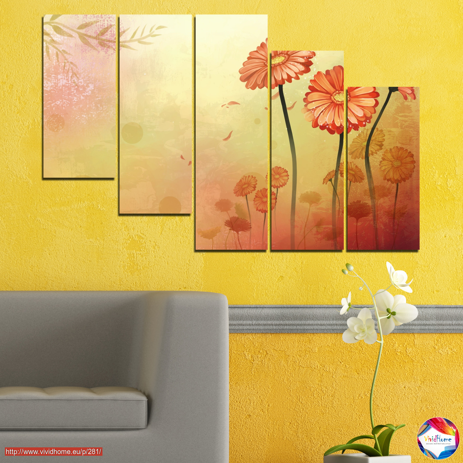 Flowers, Drawing, Gerbera №0281