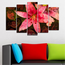 Nature, Flowers, Collage » Red, Pink, Brown, Black