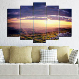 Landscape, Nature, Mountain, Sunrise » Brown, Black, Gray, Beige, Dark grey