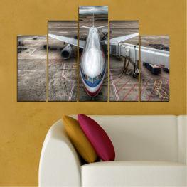 Декоративни панели и картини от канава - от 5 части №0349 Превозно средство 5-та Форма