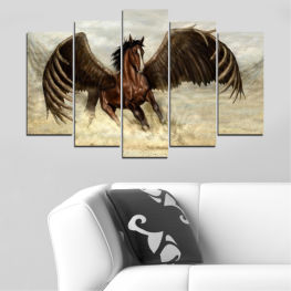 Animal, Horse, Wings » Brown, Black, Gray, Beige