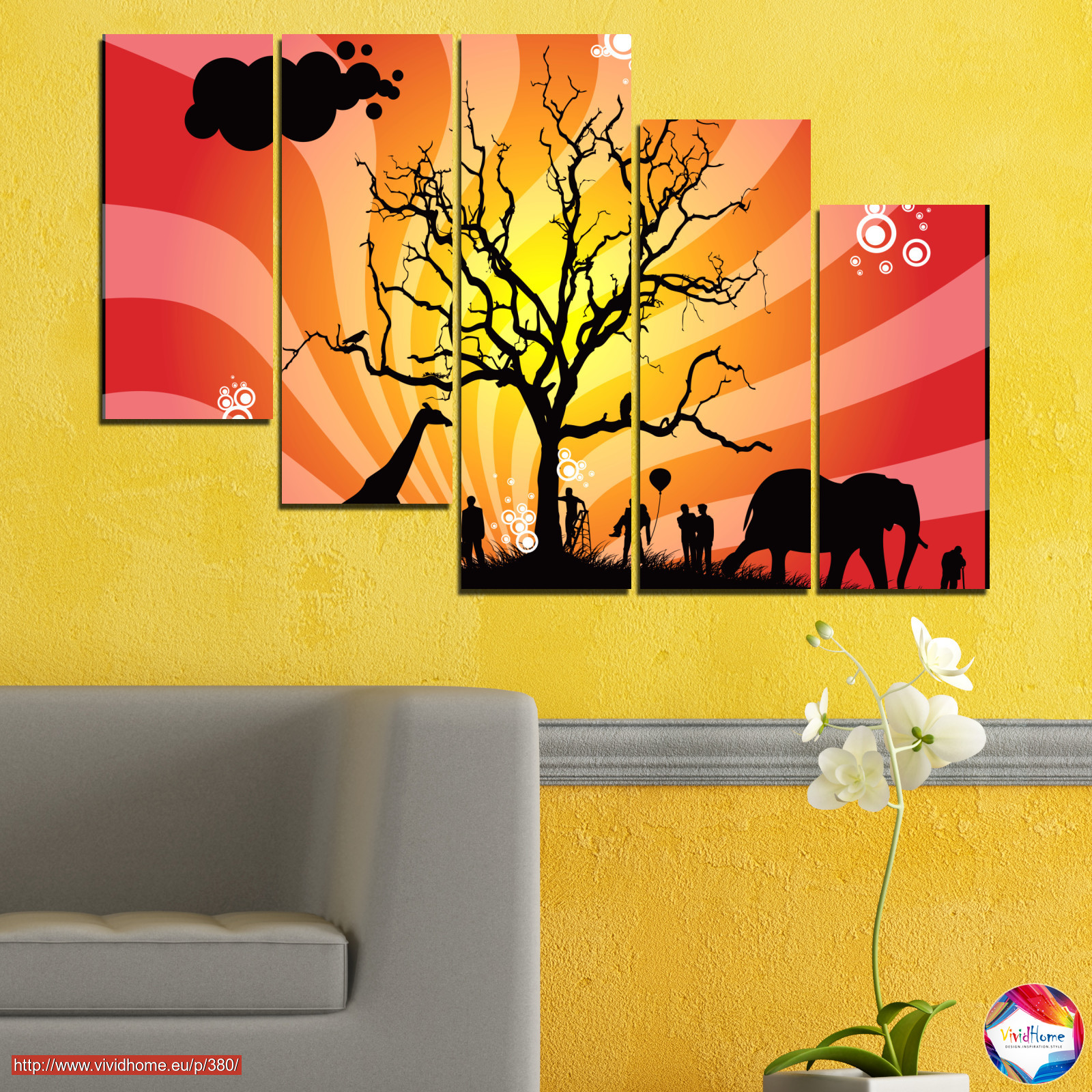 Animal, Collage, Tree, Africa, Shadow №0380