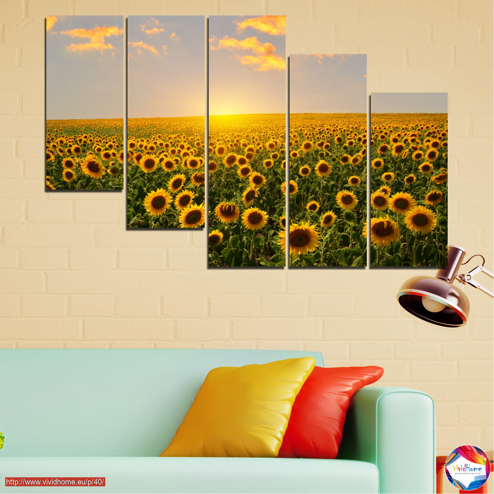 Flowers, Nature, Sun, Sky, Sunflower, Field №0040