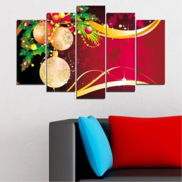 Collage, Decoration, Christmas, Holiday » Red, Black, Beige