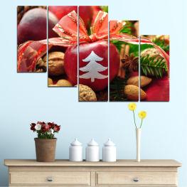 Декоративни панели и картини от канава - от 5 части №0427 Украса 7-ма Форма