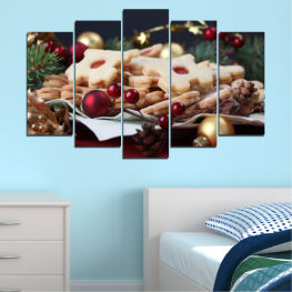 Decoration, Pastry, Christmas, Holiday » Brown, Black, Beige, Dark grey