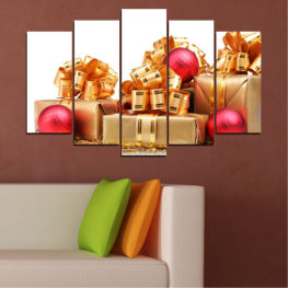 Decoration, Christmas, Gift, Holiday » Red, Orange, Brown, White, Beige