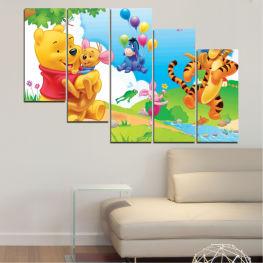 Декоративни панели и картини от канава - от 5 части №0435 Детски 7-ма Форма