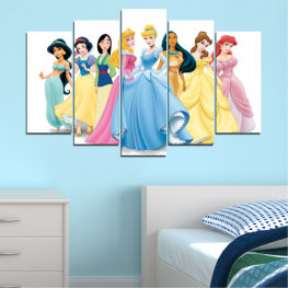 Children, Animated, Princess, Disney » Turquoise, Gray, White, Beige, Milky pink