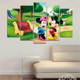 Children, Animated, Mickey mouse » Green, Black, Beige