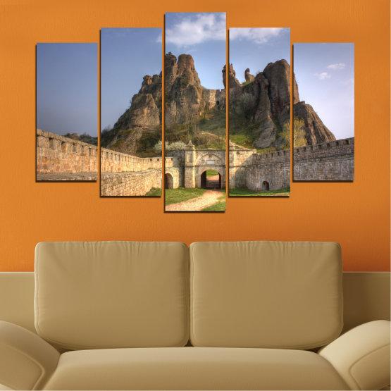 Canvas prints & wall decorative panels - 5 pieces №0461 » Brown, Gray, Dark grey » Landscape, Bulgaria, Landmark, Belogradchik Form #1