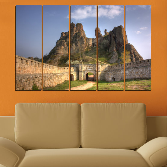 Canvas prints & wall decorative panels - 5 pieces №0461 » Brown, Gray, Dark grey » Landscape, Bulgaria, Landmark, Belogradchik Form #2