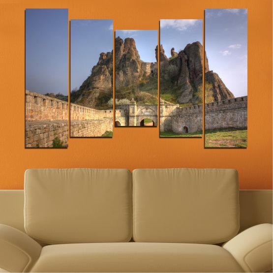 Canvas prints & wall decorative panels - 5 pieces №0461 » Brown, Gray, Dark grey » Landscape, Bulgaria, Landmark, Belogradchik Form #4