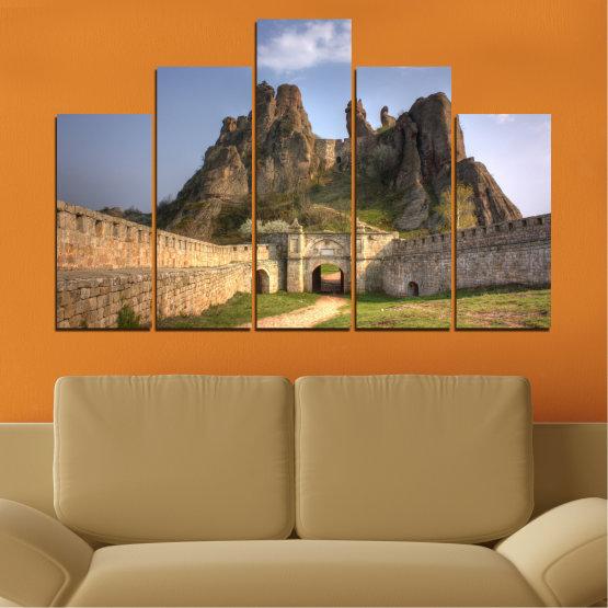 Canvas prints & wall decorative panels - 5 pieces №0461 » Brown, Gray, Dark grey » Landscape, Bulgaria, Landmark, Belogradchik Form #5