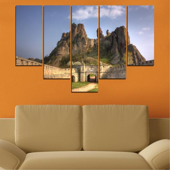 Canvas prints & wall decorative panels - 5 pieces №0461 » Brown, Gray, Dark grey » Landscape, Bulgaria, Landmark, Belogradchik Form #6