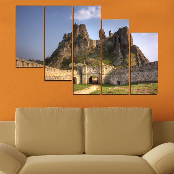 Canvas prints & wall decorative panels - 5 pieces №0461 » Brown, Gray, Dark grey » Landscape, Bulgaria, Landmark, Belogradchik Form #7