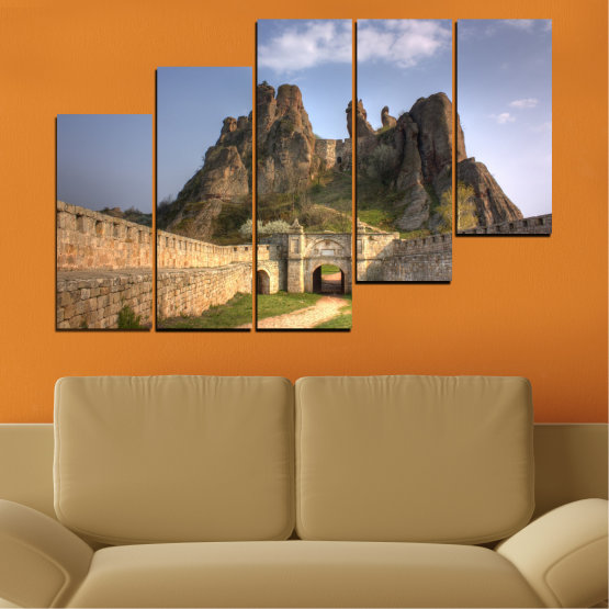 Canvas prints & wall decorative panels - 5 pieces №0461 » Brown, Gray, Dark grey » Landscape, Bulgaria, Landmark, Belogradchik Form #8