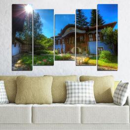 Декоративни панели и картини от канава - от 5 части №0462 Забележителност 4-та Форма