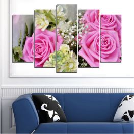 Flowers, Bouquet, Rose » Pink, Gray, Beige, Milky pink