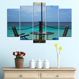 Water, Sea, View, Summer » Turquoise, Black, Gray, Dark grey