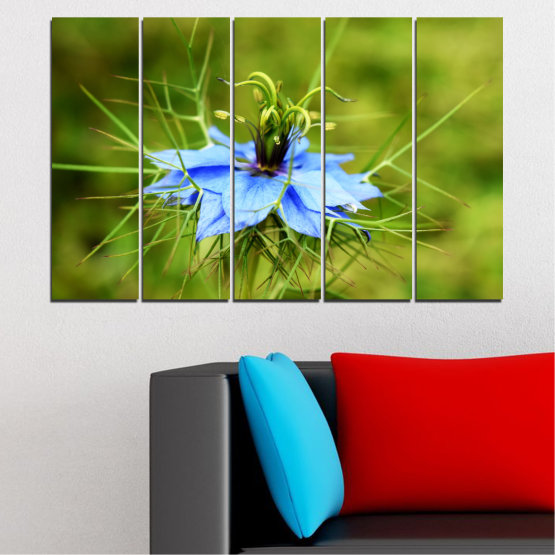 Canvas prints & wall decorative panels - 5 pieces №0498 » Green » Nature, Flowers, Garden Form #2