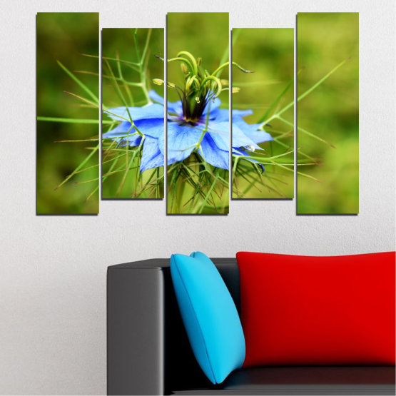 Canvas prints & wall decorative panels - 5 pieces №0498 » Green » Nature, Flowers, Garden Form #3
