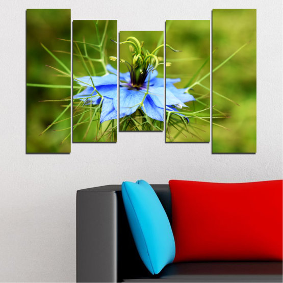 Canvas prints & wall decorative panels - 5 pieces №0498 » Green » Nature, Flowers, Garden Form #4